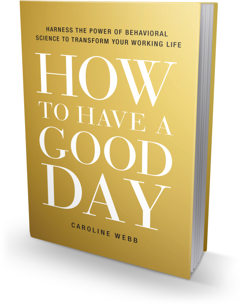 How to Have a Good Day book jacket - US edition, 3D image