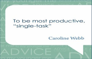 Advice to my younger me podcast. Caroline Webb and Sara Holtz.